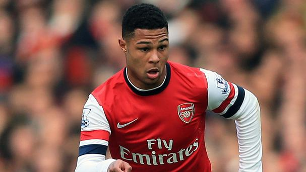 Arsenal's Serge Gnabry missed all of last season with a knee injury.