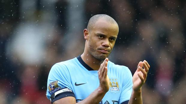Manchester City manager Manuel Pellegrini retains faith in his captain Vincent Kompany, pictured,