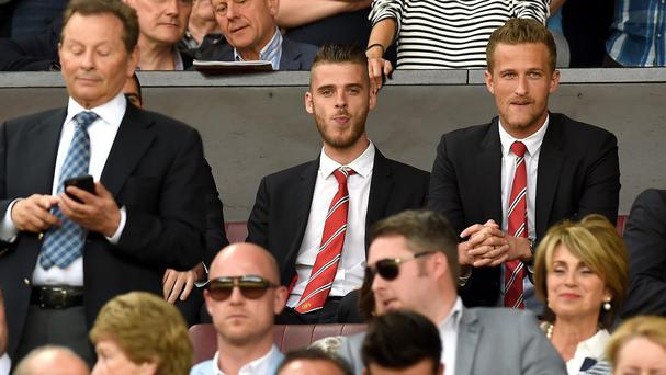 David de Gea was forced to watch from the stands