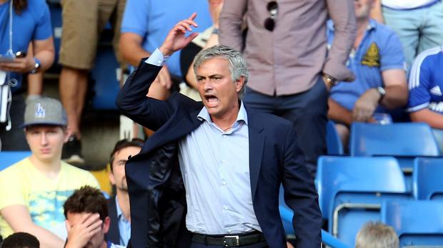 Jose Mourinho was not overly happy with some of the decisions on the opening day of the season