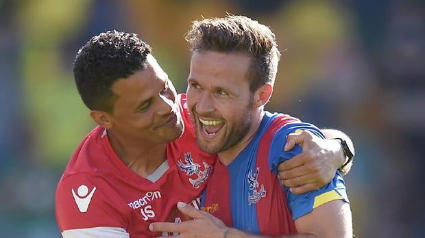 Yohan Cabaye, right, scored on his Crystal Palace debut