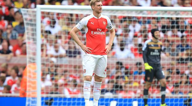 Per Mertesacker doubtful for Newcastle