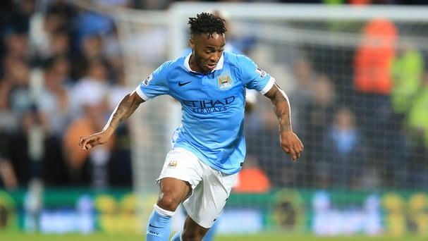Raheem Sterling made his competitive debut for Manchester City against West Brom on Monday night
