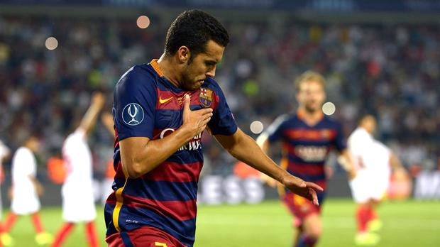 Manchester United are keen on Barcelona winger Pedro