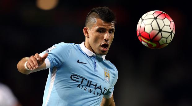Sergio Aguero is being eased back into action by Manuel Pellegrini