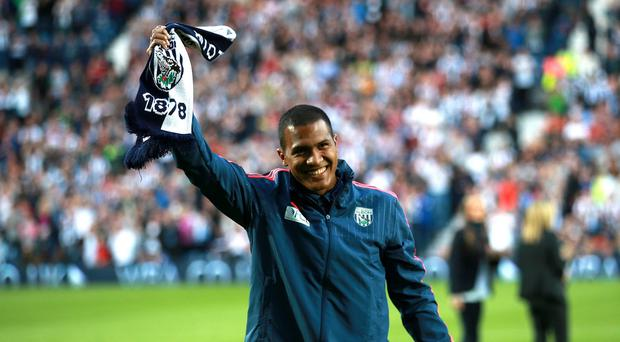 West Brom's record signing Salomon Rondon was unveiled at The Hawthorns on Monday