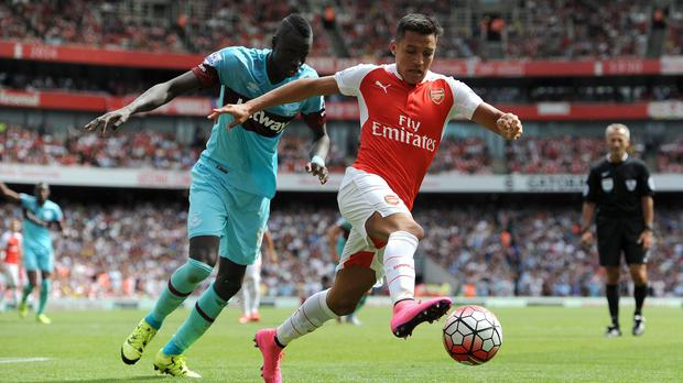 Arsenal forward Alexis Sanchez, right, is still working his way to full fitness