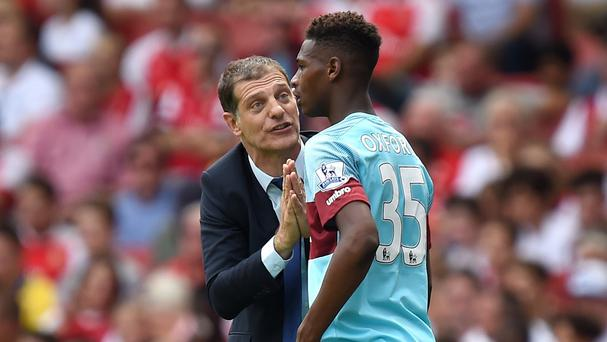 Reece Oxford, right, was handed his Premier League debut at Arsenal last weekend