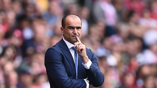 Roberto Martinez was pleased with what he saw from Everton on Saturday