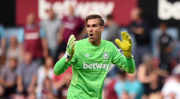Adrian was sent off late on in West Ham's 2-1 defeat to Leicester on Saturday.