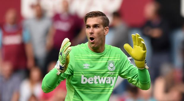 West Ham goalkeeper Adrian has lost his appeal against the red card he was shown against Leicester