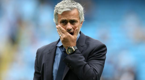 Jose Mourinho, pictured, will be aiming to avoid a third straight defeat to a team managed by Tony Pulis on Sunday