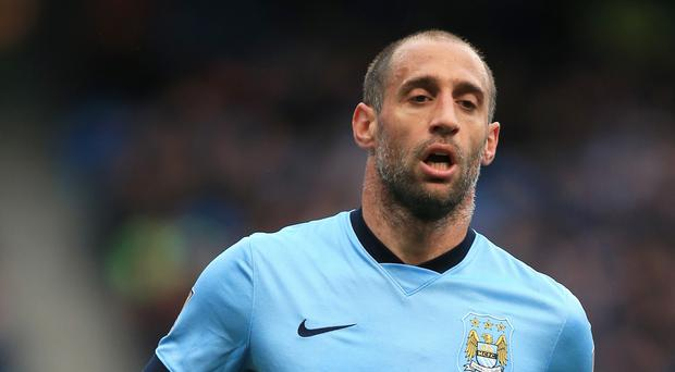 Manchester City's Pablo Zabaleta is facing a spell on the sidelines