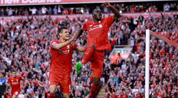 Liverpool's Christian Benteke scored a controversial winner against Bournemouth
