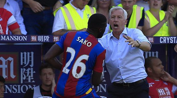 Bakary Sako, left, was praised by manager Alan Pardew, right, following his winner