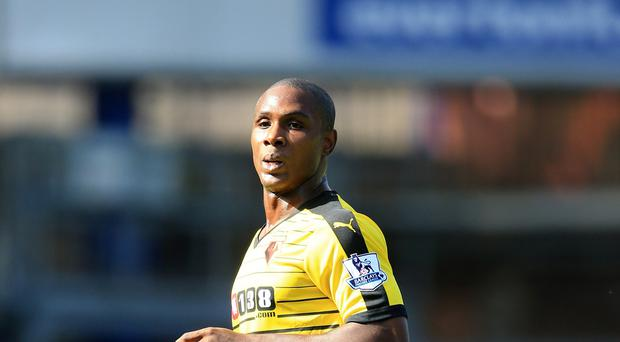 Odion Ighalo went close to a winner for Watford