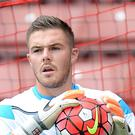 Stoke goalkeeper Jack Butland suffered a broken finger ahead of the match against Norwich