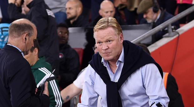 Southampton manager Ronald Koeman is fielding speculation