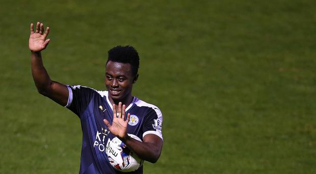 Leicester youngster Joe Dodoo marked his debut with a brilliant hat-trick at Bury