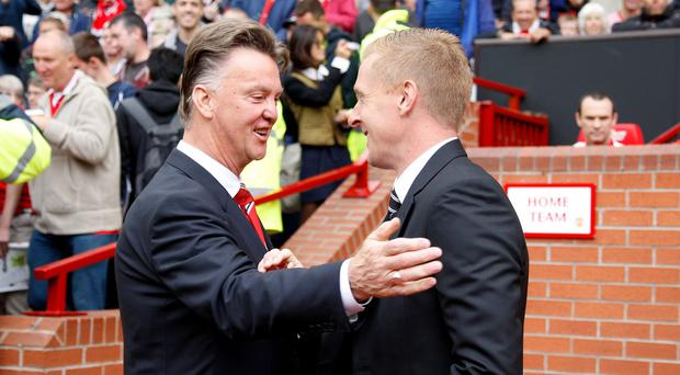 Swansea manager Garry Monk, right, expects Manchester United to be title contenders
