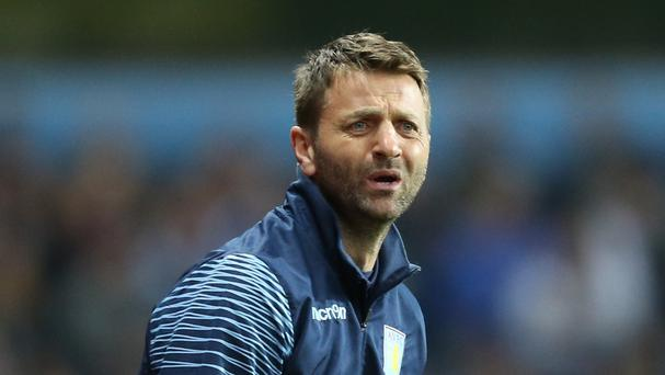 Aston Villa manager Tim Sherwood has a tight hamstring