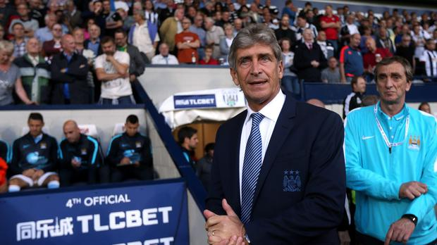 Manuel Pellegrini, pictured, refused to answer questions on Manchester City's pursuit of Kevin de Bruyne