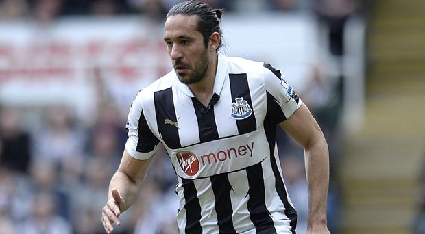 Jonas Gutierrez made 187 appearances for Newcastle before leaving club this summer