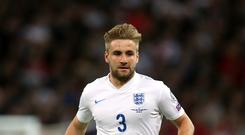 Luke Shaw has six caps and can earn many more according to Roy Hodgson