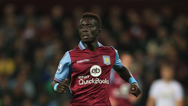 Aston Villa's Idrissa Gueye is a doubt for their trip to Leicester