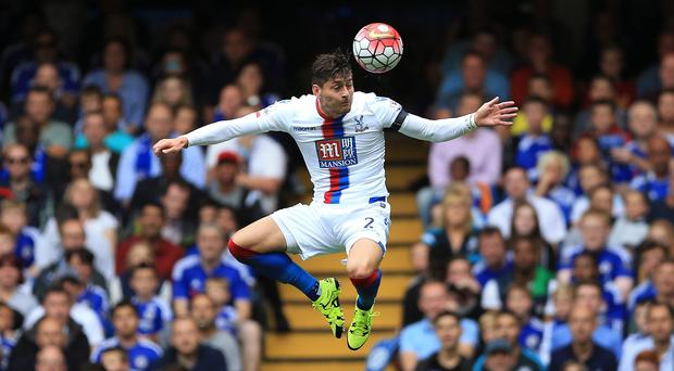 Crystal Palace's Joel Ward suffered an injury in training