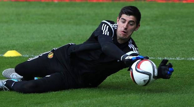 Chelsea's Belgium international goalkeeper Thibaut Courtois is facing a stint on the sidelines