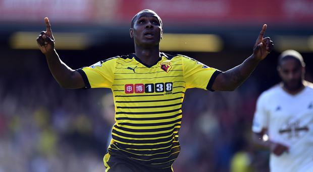 Odion Ighalo's effort was enough to see of Swansea