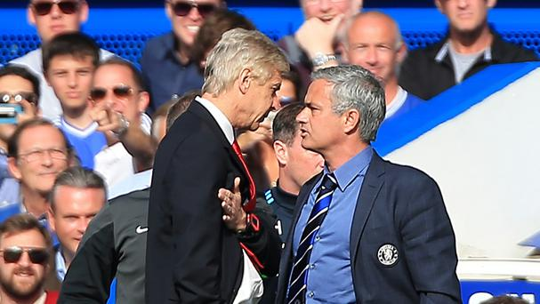 Jose Mourinho (right) and Arsenal manager Arsene Wenger