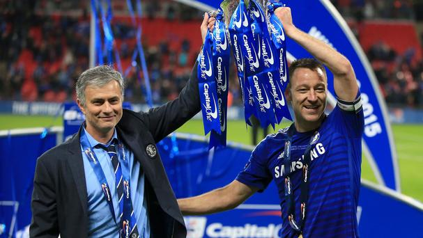 Chelsea manager Jose Mourinho (left) insists his relationship with captain John Terry (right) is as strong as ever