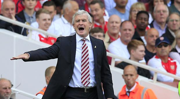 Mark Hughes was not happy after his Stoke side were held at home by Leicester