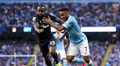 Victor Moses, pictured left, led West Ham to a surprise victory at Manchester City on Saturday