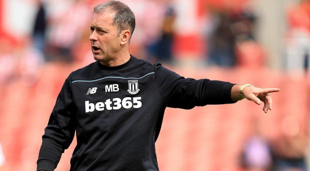 Mark Bowen handled press duties at Stoke on Monday