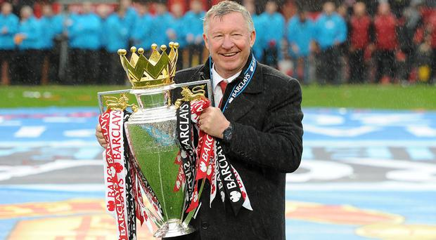Alex Ferguson won his final Premier League title with Manchester United in 2013