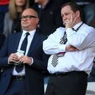 Newcastle United managing director Lee Charnley (left) has apologised for the club's poor start to the season