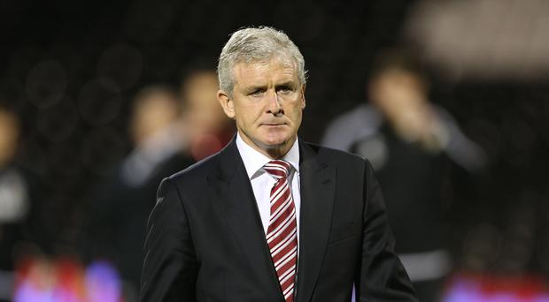 Mark Hughes' Stoke are still yet to win a Barclays Premier League game this season.