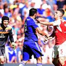 Tempers frayed between Diego Costa and Gabriel at Stamford Bridge last weekend