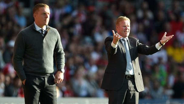 Southampton manager Ronald Koeman, right, was not entirely happy despite his side's victory