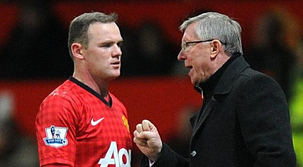 Wayne Rooney, left, and Alex Ferguson did not always see eye to eye