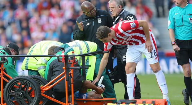 Callum Wilson had to be stretchered off after suffering the injury against Stoke
