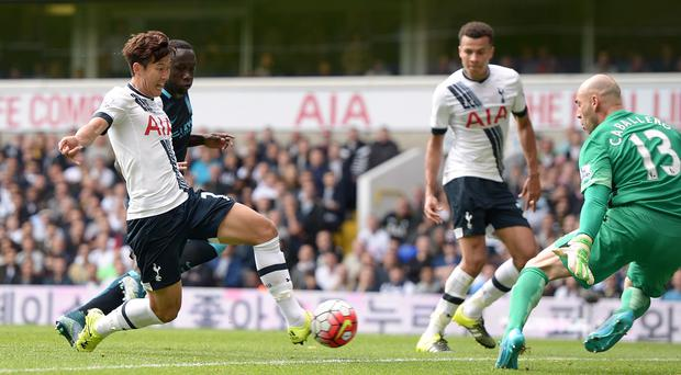 Son Heung-min, left, has impressed in his short time at Tottenham