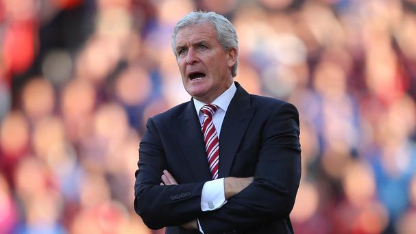 Stoke manager Mark Hughes faces an away match at Aston Villa on Saturday