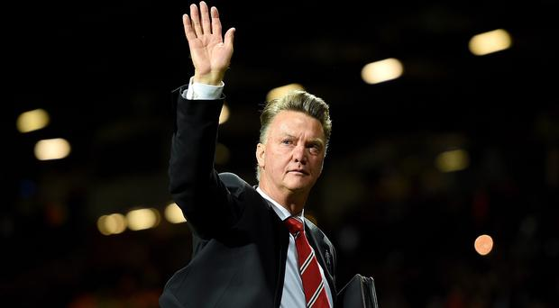 Manchester United manager Louis van Gaal, pictured, goes head to head with Arsene Wenger on Sunday