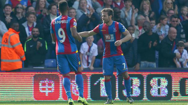 Crystal Palace's Yohan Cabaye, pictured right, won praise from his boss Alan Pardew