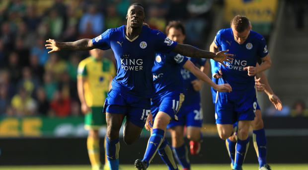 Jeff Schlupp was on target for Leicester