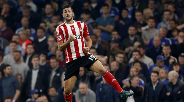 Graziano Pelle celebrates scoring for Southampton against Chelsea